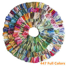 447 Skeins Rainbow Color Embroidery Floss Craft Cross Stitch Threads String DIY