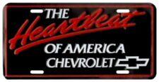 "Chevrolet Decorative ""Heartbeat of America"" License Plate"