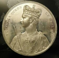 CORONATION MEDAL QUEEN VICTORIA 1838 BY BARBER 61 mm 1837 1901 PRINCE ALBERT