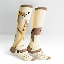 Sock It To Me Women's Funky Knee High Socks - Cheetah Pet