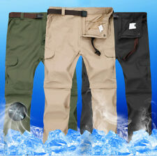 Men's Quick Dry Detachable Long Pants Shorts Outdoor Hiking Cargo Trousers