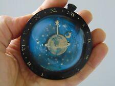 Vintage Westclox Celestial Moon & Stars Paperweight Clock - Art Deco - Astronomy