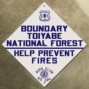 Toiyabe Forest California Nevada ACSC highway road sign auto club AAA USFS