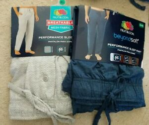 Fruit of the loopTagless Solid beyond soft Knit Pant 2XL or XL lot of (2)