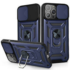 For iPhone 12 11 Pro Max XS XR 8 Case Armor Camera Slide Ring Stand Phone Cover