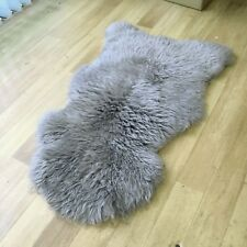 Genuine Australian Sheepskin Rug Single Pelt Grey 2 x 3 ft in Sale Price