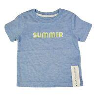 New Janie & Jack Toddler Boys Graphic Short Sleeve T-Shirt Summer 12-18 Months