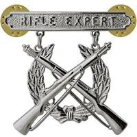 USMC Marine Corps Qualification Badge Rifle Expert             (MADE IN THE USA)
