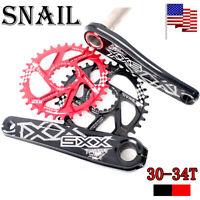 SNAIL GXP 170mm Crank 30/32/34T Chainwheel MTB Bike Chainring Crank set Aluminum