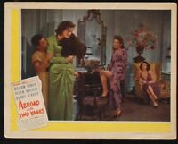 """ABROAD WITH TWO YANKS William Bendix Vintage 1944 US MOVIE LOBBY CARD 11"""" x 14"""""""