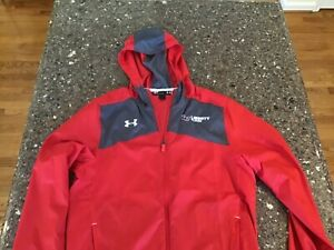Liberty University Flames Under Armour jacket Small S Red