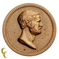 1870 Washington/Grant Bronze Medalette (AU) About Uncirculated Condition