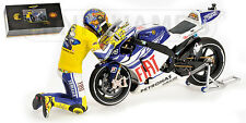 "1:12 Minichamps Valentino Rossi Yamaha YZR M1 2010 Valencia MotoGP ""Bye Bye"" NEW"