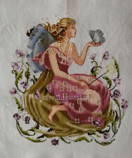 HAND MADE New Finished Completed Cross Stitch - Butterfly fairy - P29