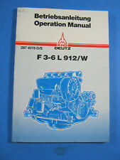 KHD Deutz F 3-6 L 912/W Engine Operation Manual