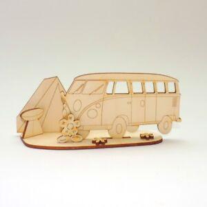 Bus mit Zelt, Bastelset für Kinder, zum Kindergeburtstag, Basteln, Verschenken