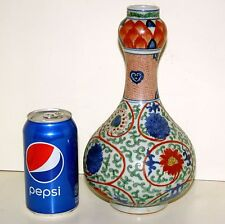 Gorgeous Authentic Chinese Antique Ming Dynasty Wucai Vase with Wanli Mark Rare