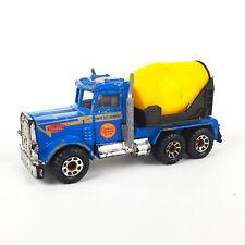 Matchbox Peterbuilt Cement Truck 1981 Macau Blue Yellow 1:80   LOOSE