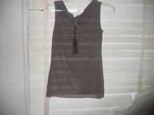 NWT Lilith France ~ Art to Wear ~ Cowl Neck Cafe Mesh Tank/Cami/Shell LL