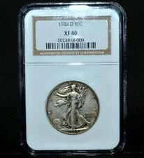 1938-D WALKING LIBERTY HALF DOLLAR ✪ NGC XF-40 ✪ 50C SILVER EXTRA FINE ◢TRUSTED◣
