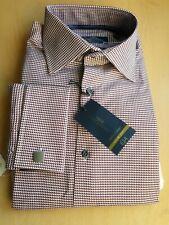 BNIP NEXT Mens Black Grey Check Long Sleeved Shirt /& Tie Set Regular Fit