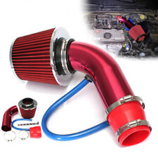3'' Car Cold Air Intake System Turbo Induction Pipe Tube Filter Kit Red Alumimum