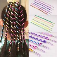 12XRandom Color Girl Hair Styling Twister Clip Braider Tool Accessories Headwear