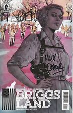 BRIGGS LAND ISSUE 1 - BRIAN WOOD UPCOMING AMC TV SERIES - SIGNED BY MACK CHATER
