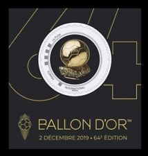 France 2019 Football Soccer Sports Golden Ball Award Round Stamp S/A MS