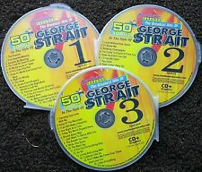 GEORGE STRAIT COUNTRY 3 CDG DISCS CHARTBUSTER HITS KARAOKE 50 SONGS CD+G 5046