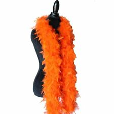 Orange 65 Grams Chandelle Feather Boa Dance Wedding Party Halloween Costume