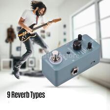Professional Digital Reverb Guitar Effect Pedal 9 Reverb Types Full Metal Shell