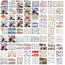 Flower Cute Water Transfer Decal Stickers Nail Art Decoration, Free Post, UK