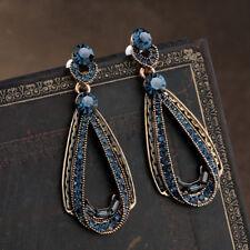 Delicate Women Jewelry Crystal Earrings Blue Rhinestone Drop Water Ear Stud B