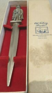 Old Colony Pewter Letter Opener 18cm approx. Boxed