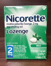 Nicorette Stop Smoking Aid Lozenge, Mint 2mg 72 Lozenge 03/19