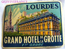 ETIQUETTE BAGAGE -  GRAND HOTEL DE LA GROTTE LOURDES