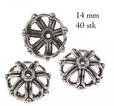 40 Perlenkappen Perlkappen 14mm Tibet Silber Spacer Schmuck Zwischenperlen M233