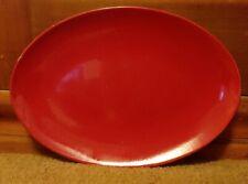 "Cherry Red Oval Serving Platter 10 5/8"" Waechtersbach Germany Stoneware"