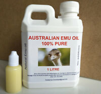 EMU OIL (1 LITRE AND FREE 30ML) 100% PURE *CHEAPEST* FREE SHIPPING, FREE POSTAGE