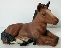 Vintage Collectable Pony/Horse Figurine Home Decor Chestnut Pony Brown & Black