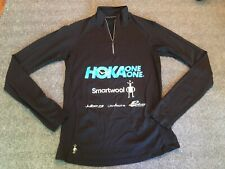 Hoka One One SmartWool Running Shirt Long Sleeve 1/4 Zip - Men's Small S