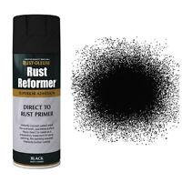 Rust-Oleum Direct To Rust Reformer Primer Aerosol Spray Paint Black Matt 400ml