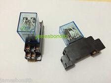 110V AC Coil Power Relay DPDT LY2NJ HH62P-L JQX-13F 10A With PTF08A Socket Base