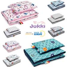 Baby BLANKET & PILLOW SET Minky Cotton XL 75x100cm COT CRIB PRAM MOSES BASKET EU