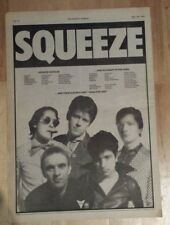Squeeze Tour Cool for Cats  1979 press advert Full page 28 x 39 cm mini poster
