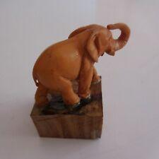 Eléphant sculpture statue animal miniature résine vintage art déco XXe N4450