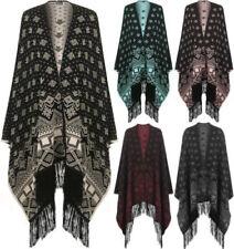Acrylic Geometric Regular Size Coats, Jackets & Vests for Women