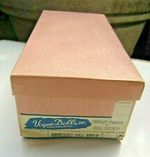 VINTAGE, RARE 1950's COLLECTIBLE VOGUE GINNY UNDRESSED BRAID DOLL BOX ORIGINAL