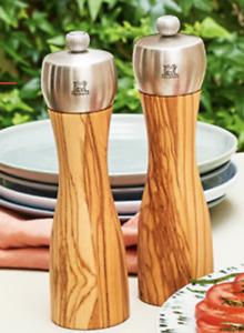 NWT Peugeot Salt and Pepper Mill Fidji Olive Wood Manual 15 cm/ 5.9 inch